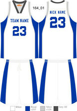 Custom Sublimated Basketball Uniforms Singlets & Shorts Mens Ladies Kids 164