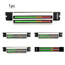 Dual Zubehör LED-Pegel Einstellbarer Ton Zweikanal-Anzeigelampe Audio