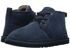 100% UGG Men's Neumel Chukka  Boots Casual Fashion Shoes Suede Black Chestnut