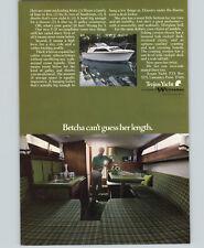 1972 PAPER AD Trojan Yacht Motor Boat F-25 25'