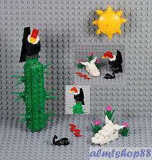 LEGO - Desert Scene w/ Cactus Plant Vulture Cow Skull Scorpion Sun Wild West