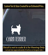 Cairn terrier dog 6 inch decal pet lover man best friend car laptop more swp1_48