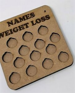 Personalised Weight Loss Reward Plaque, lb for pound, Different sizes available