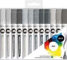 Molotow Aqua Brush Grey Set - 12