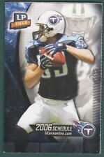 2006 TENNESSEE TITANS FOOTBALL POCKET SCHEDULE