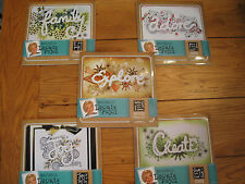 Lot of 5~NEW~Mask & Stencil Sets~Leonie Pujol~Crafters Companion~Scrapbooking