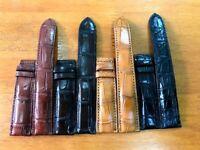 100% Genuine Crocodile Alligator Skin Leather Watch Strap Band 18mm/24mm