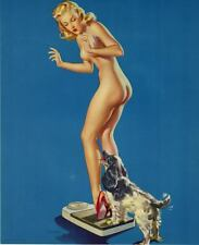 Retro Pinup Girl QUALITY CANVAS  PRINT Poster Gil Elvgren Pleasing discovery