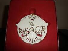 Lenox Peace Ornament Nib