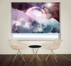 Planets in the Sky Space galaxy Printed Photo Picture Roller Blinds Any Size