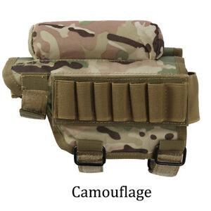 Tactical Rifle Buttstock Ammo Pouch Shotgun Stock Pouch Shell Cartridge Holder