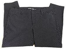 OLD NAVY Size 16 PLUS Regular Black White Cotton Daisy Dots Mid Rise Pixie Pants