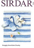 Sirdar Chunky Knitting Pattern 5163, Baby Cardigan and Blanket, Birth to 3 years