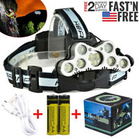 Super-bright 90000LM 9 X T6 LED Headlamp Headlight Flashlight Head Torch 18650