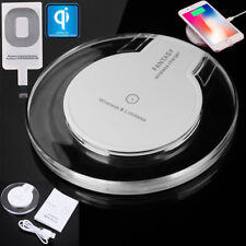 Clear Qi Wireless Fast Charger Dock Charging Pad+Receiver for iPhone 5/6S/7Plus