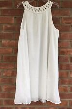 New Susana Monaco Cotton Gauze Dress/Tunic White Size 8 Lined
