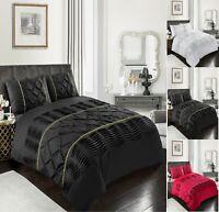 Diamond ELEANOR / Pintuck Duvet Cover Set With Pillow Case,Bed Line / Quilt Sets