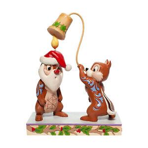 Disney Traditions Jim Shore Chip N Dale Christmas Snuff Said Figurine 6007070