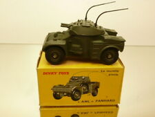 DINKY TOYS 814  AML PANHARD ARMOURED CAR - ARMY GREEN 1:43 - EXCELLENT IN BOX