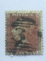 victorian penny red -  perf 14 .large crown - blue paper.