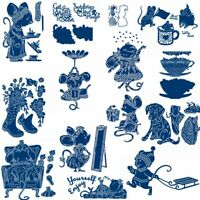 Lovely Mouse Metal Cutting Dies DIY Album Embossing Craft Stencil Scrapbooking