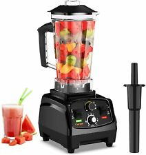 Professional Countertop Blender with 2200-Watt Base Built-in Timer Self-Cleaning