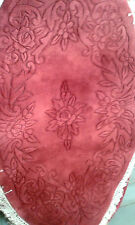 Brand NEW 100% Wool Chinese Rug Carpet  Oval Large 5'x3' Burgundy Rose Floral