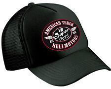 Super Charged Trucker Cap Hot Rod Shirt V8 Rockabilly Biker Old Skool Rocknroll