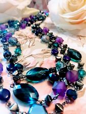 NEW~Premier Designs Jewelry Necklace~ 3-in-1~PURPLE TEAL COLORS...pd#1