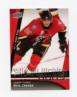 09/10 UPPER DECK YOUNG GUNS ROOKIE RC #242 KRIS CHUCKO FLAMES *17146