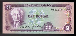 Jamaica 1 Dollar 1970 Pic# 54 UNC
