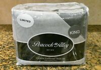 NEW Peacock Alley KING Duvet Cover Set GRAY Sham Cotton 3 Pc - ECO FLANNEL