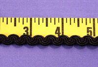 "Scroll Gimp Trim Rayon Braid Trim Craft Decorator 3/8"" Black  10 yds USA #BG30"