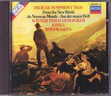 Kirill KONDRASHIN: DVORAK Symphony 9 New World Wiener Philharmoniker DECCA CD 82