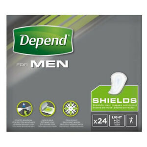 Depend Incontinence Pads for Men - buy 24, 48 or 96 - discreet shaped pads