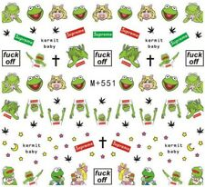 "Nail Art Stickers Water Decals ""F**k Off"" Logo Rude Cartoon Characters  (M+551)"