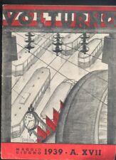 Volturno rivista mensile 1939 epoca fascista servizi tramviari tram mussolini R