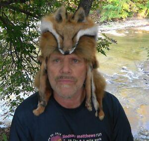 Red fox fur mountain man hat *  Badger , raccoon, coyote , Alaskan fur hats