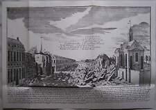 Berlin 1720 Kupferstich Explosion des Pulverturmes in der Spandauer Straße Stich