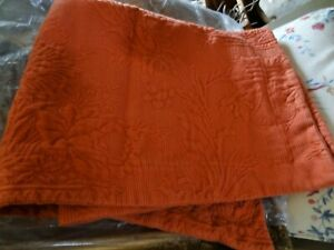 "set 3 Vintage WILLIAMSBURG brand QUEEN Matelasse 91"" Bedspread KING dark Orange"