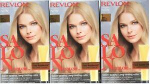 (3) Revlon SALON COLOR 9 Light Natural Blonde Color Booster Permanent Hair Color
