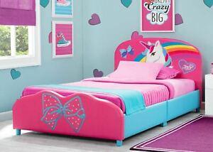 JoJo Siwa Upholstered Twin Bed by Delta Children