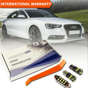 Audi A5 LED Interior Kit Premium Set 12 SMD Bulbs White Error Free B8 S5 RS5