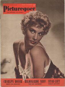 Picturegoer Magazine Linda Christian Cover, November 8, 1952, Marilyn Monroe