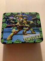 Vintage Nickelodeon Teenage Mutant Ninja Turtles Metal Lunch Box Storage Case