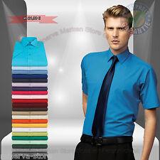 Pflegeleichtes Business Büro Herren Hemd 24 Farben Kurzarm Gr.37-56 Baumwolle