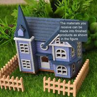 1/12 DIY Mini Wooden Dolls Miniature House Handicraft Building Assemble Toys_LE