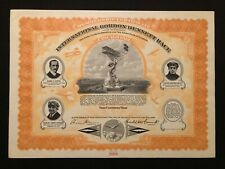 INTERNATIONAL GORDON BENNETT RACE MEMBERSHIP CERTIFICATE RARE AVIATION 1912