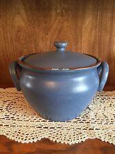 SALE!!!Dansk Mesa Blue turquoise Tureen Bean Pot With Lid