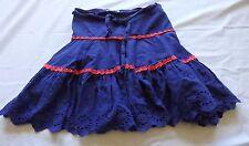 GIRLS size 7  PUMPKIN PATCH Broderie Anglais blue  skirt